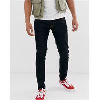 Nudie Jeans co - skinny lin - jeans skinny arancione profondo-navy