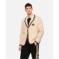 Gucci blazer con dettaglio a contrasto