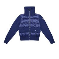 Moncler Enfant giacca in cotone con imbottitura in piuma