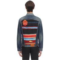 ALANUI giacca in denim di cotone con patch