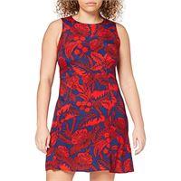 Desigual floral print vestito, rosso/blu, 52 (taglia produttore: 46) donna