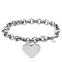 Stroili bracciale con charm cuore in argento 925 rodiato