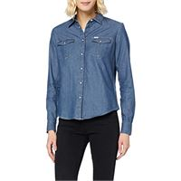 Lee western shirt camicia, multicolore (poppy red nh), l donna