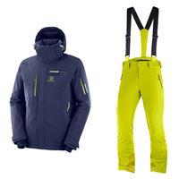 SALOMON completo sci uomo - giacca brilliant + pantalone iceglory