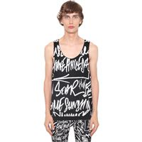 TAKAHIROMIYASHITA THESOLOIST tank top mickey mouse words in cotone