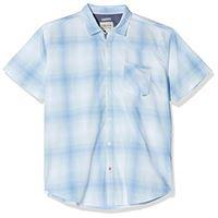 Timezone shirt camicia, verde (fading khaki check 4615), 48 (taglia produttore: medium) uomo
