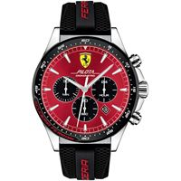 Scuderia Ferrari orologio cronografo uomo Scuderia Ferrari pilota fer0830595