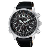 Citizen pilot cb5860-19e orologio uomo eco drive radiocontrollato cronografo