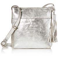 Clarks topsham shine - borsa a tracolla da donna, 1 x 1 x 1 cm, argento (argento (silver)), 1x1x1 cm (b x h x t)