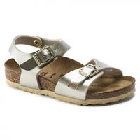 Birkenstock rio electric metallic gold sandalo bambina - calzata stretta