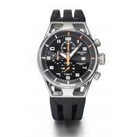 Locman montecristo chrono / orologio uomo / quadrante nero / cassa acciaio e titanio / cinturino silicone nero