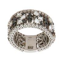 Crivelli anello fascia oro diamanti bianchi neri crivelli