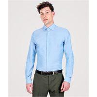 Lanieri camicia da uomo su misura, canclini, green azzurra, quattro stagioni | Lanieri