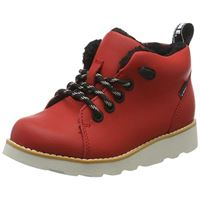 Clarks crown tor k, stivali classici bambino, rosso red leather, 32 eu
