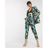 ASOS EDITION - pantaloni in jacquard a fiori estivi-multicolore