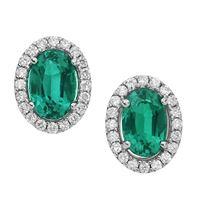 Comete orecchini comete gioielli storia di luce in oro 18kt, diamanti e smeraldi orb912