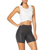 AURIQUE marchio amazon - AURIQUE pantaloncini sportivi donna, nero (black), 48, label: xl