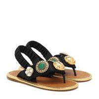 Miu Miu sandali infradito in raso con decorazione