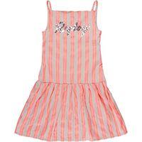 REPLAY sg3192.051.52296 vestito, multicolore (ecru-coral fluo 010), 140 (taglia produttore: 10a) bambina