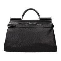 Dolce&Gabbana borse da lavoro uomo pelle di struzzo nero one size