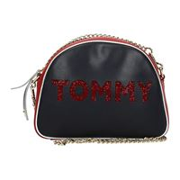 Tommy Hilfiger borse a tracolla donna pelle blu one size