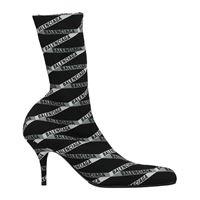 Balenciaga stivaletti donna tessuto nero grigio 37