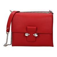 Alexander McQueen borse a tracolla donna pelle rosso one size