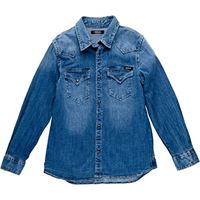 REPLAY sb1110.051.165 camicia, blu (denim 001), 140 cm bambino
