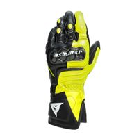 Dainese carbon 3 long gloves-p86-black/fluo-yellow/white | dainese