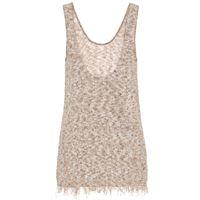 Alanui esclusiva mytheresa - top in maglia di cotone