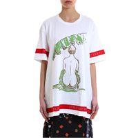 J.W. ANDERSON t-shirt donna je28ws18708001 cotone bianco