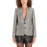 SAINT LAURENT blazer donna 517813y103u1081 poliestere argento