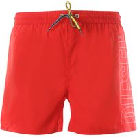 Diesel swim shorts trunks for men in outlet, rosso, polyester, 2021, l m s xl