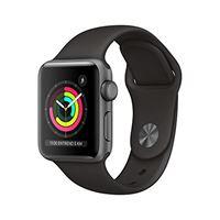 Apple watch series 3 (gps) con cassa 38 mm in alluminio grigio siderale e cinturino sport nero