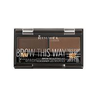 Rimmel kit sopracciglia - brow this way 003 dark brown