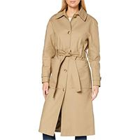 find. trench con cintura donna, beige (neutro). , 40, label: xs