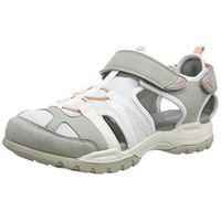 Geox d borealis a, sandali con cinturino alla caviglia donna, grigio (lt grey/white c1303), 38 eu