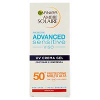 Ambre solaire advanced sensitive crema viso gel uv spf 50+ 50 ml