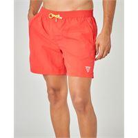 Guess costume boxer rosso con taschino