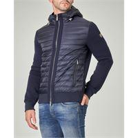 Ciesse Piumini giacca blu bitessuto con inserti in nylon e lana tecnica