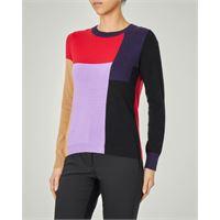 Emme Marella maglia in misto viscosa e lana a blocchi di colore