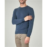 Paul Baker maglia blu indaco girocollo in cotone