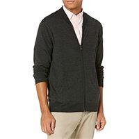 Goodthreads merino wool/acrylic bomber sweater maglione, verde oliva, 48-50 tall