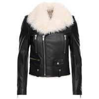SAINT LAURENT giacca biker in pelle con shearling