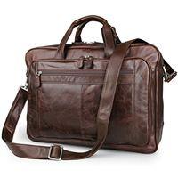 UBAYMAX borsa per business uomo, valigetta per laptop pelle, cartella vintage per pc 17 pollici, scomparto per portatile 15,6 pollici, borsa a tracolla classica da lavoro, messenger per pc portatili
