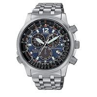 Citizen pilot titanio cb5850-80l orologio uomo eco drive radiocontrollato cronografo