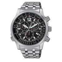 Citizen pilot titanio cb5850-80e orologio uomo eco drive radiocontrollato cronografo