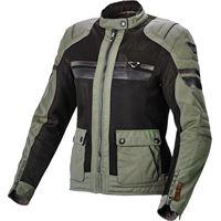 Macna giacca moto donna estiva Macna fluent verde scuro nero