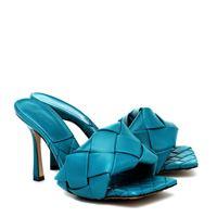 Bottega Veneta sandali lido in nappa intrecciata