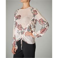 Pinko blusa in georgette stampa floreale base bianca